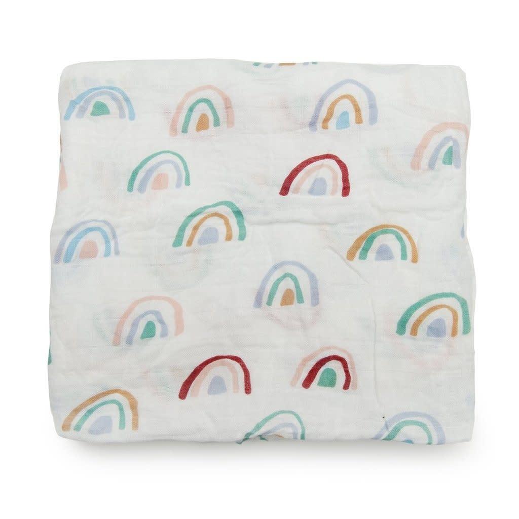 Lou Lou Lollipop Bamboo Swaddle - Llama Rainbow