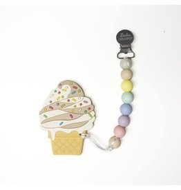 Lou Lou Lollipop Teether Set - Chocolate Ice Cream