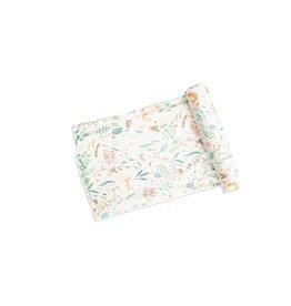 Angel Dear Woodland Floral Swaddle Blanket