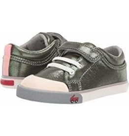 See Kai Run Toddler Girl's Kristin Shoe - Olive Shimmer
