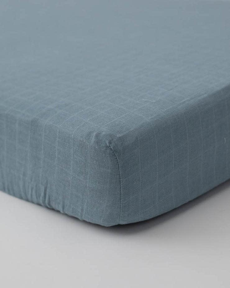 Little Unicorn Cotton Muslin Crib Sheet - Spruce