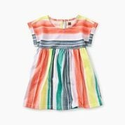 Tea Collection Printed Empire Baby Dress - Watercolor Stripe 9-12M + Laguna Leggings