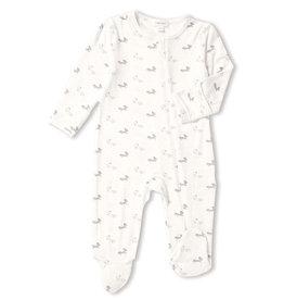 Angel Dear Zipper Footie - Grey Baby Fox