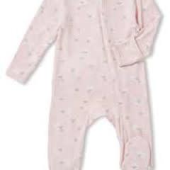 Angel Dear Zipper Footie, Pink Sheep 3-6M