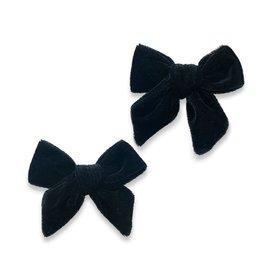 Baby Bling Bows 2PK Velvet Bow Clip - Black