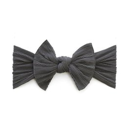 Baby Bling Bows Cable Knit Knot - Charcoal