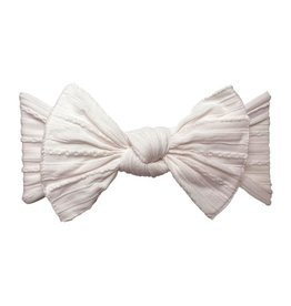 Baby Bling Bows Cable Knit Knot - Ballet Pink