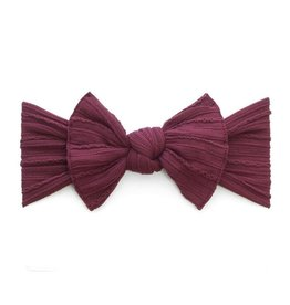 Baby Bling Bows Cable Knit Knot - Burgundy