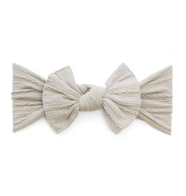 Baby Bling Bows Cable Knit Knot - Taupe