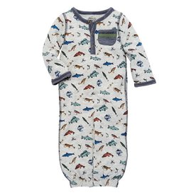 Mud Pie Convertible Gown Fish 0-3M