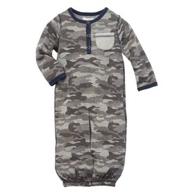 Mud Pie Convertible Gown Camo Henley 0-3M
