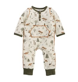 Mud Pie Forest Friends Henley Romper