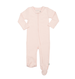 Finn + Emma Organic Cotton Zip Footed Romper, Lt Pink 0-3M