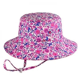 Millymook and Dozer Girls Bucket Hat - Ruby Pink S (2-5y)