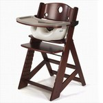 Keekaroo by Bergeron By Design Height Right High Chair Mahogany with Tray and Cover