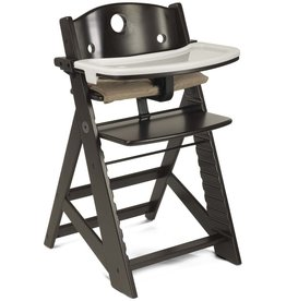 Keekaroo by Bergeron By Design Height Right HIGH Chair Espresso with Tray and Cover