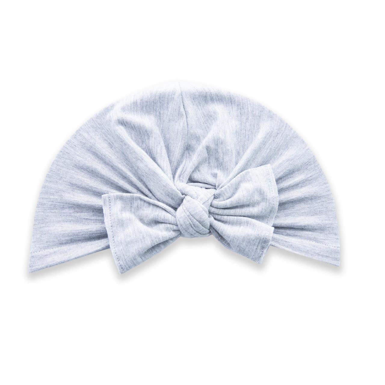 Baby Bling Bows Knot Turban : Grey