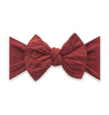 Baby Bling Bows Patterned Knot - Heathered Red