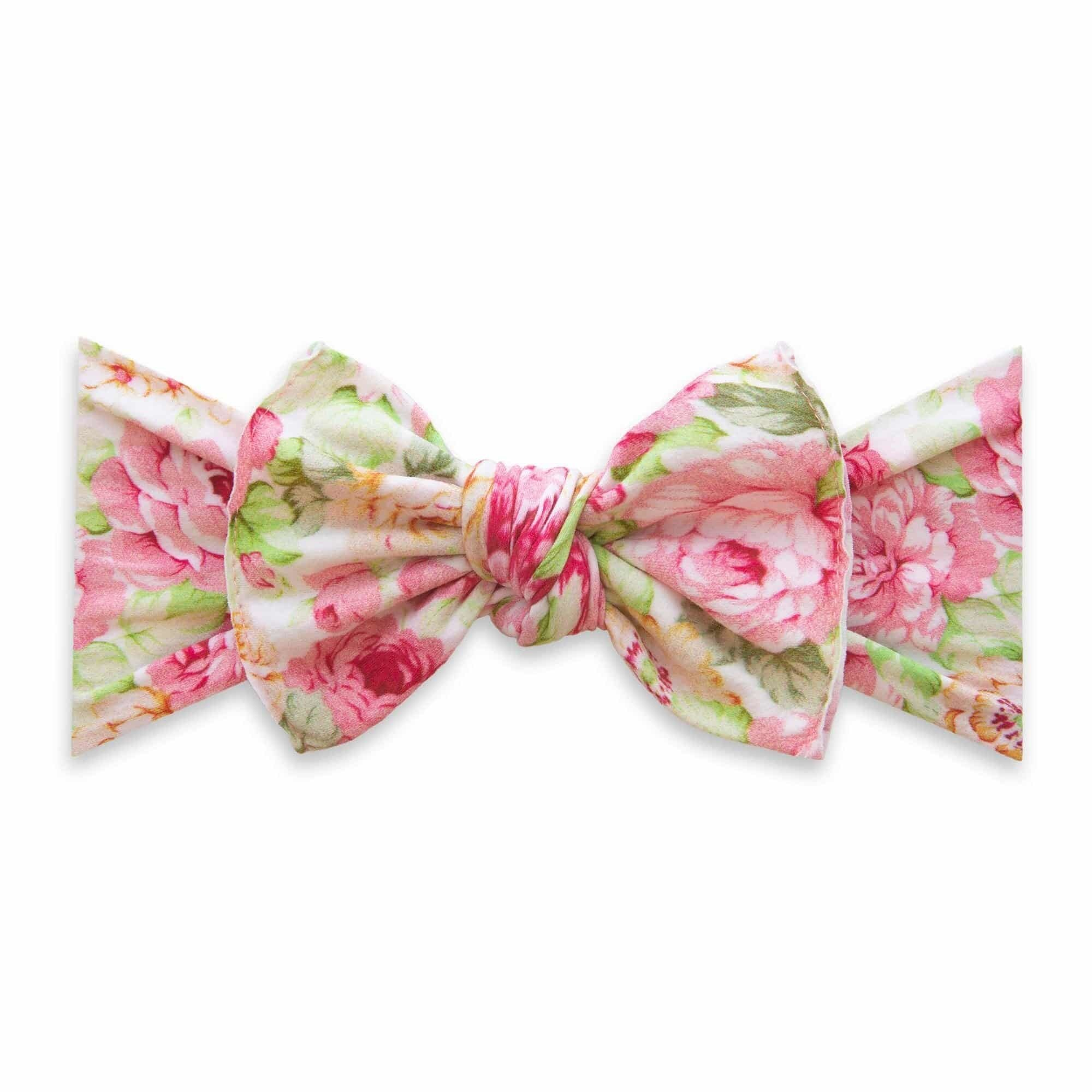 Baby Bling Bows Printed Knot - Bed of Roses