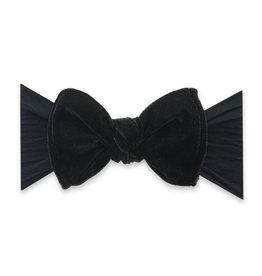 Baby Bling Bows Velvet Knot - Black