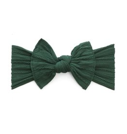Baby Bling Bows Cable Knit Knot - Forest Green