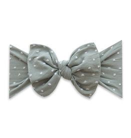 Baby Bling Bows Patterned Shabby Knot - Sage Dot