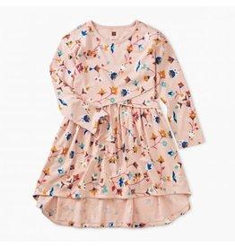 Tea Collection Printed Asymmetrical Wrap Dress - Summit Floral