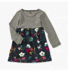 Tea Collection Two-Tone Baby Dress - Himalayan Floral