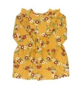 RuffleButts Golden Gardenias Waterfall Dress