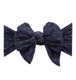 Baby Bling Bows Dang Enormous Bow: Navy Dot