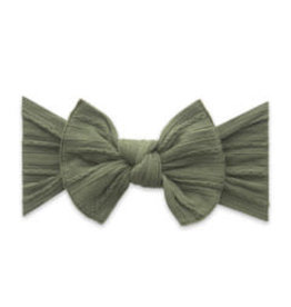 Baby Bling Bows Cable Knit Knot - Army Green