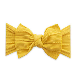 Baby Bling Bows Cable Knit Knot - Mustard