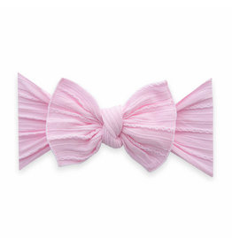 Baby Bling Bows Cable Knit Knot - Pink