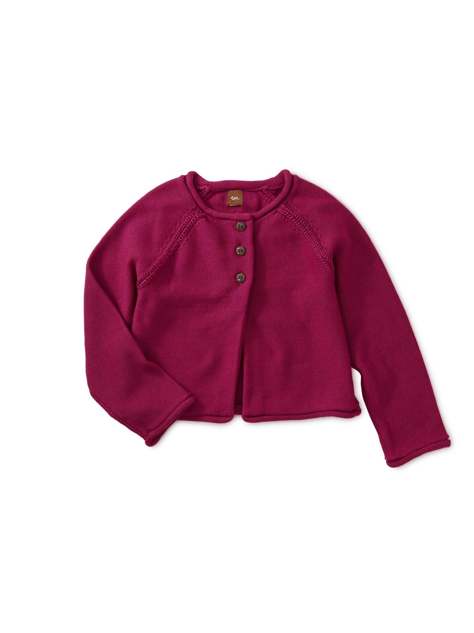 Tea Collection Solid Raglan Sweater Cardigan - Bouquet