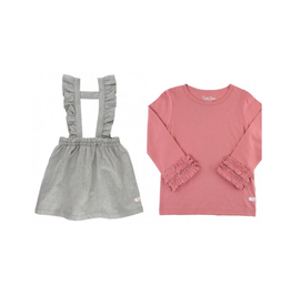 RuffleButts Ruffle Strap Skirt and Tee Set