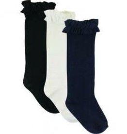 RuffleButts 3-Pack White, Navy, Black Knee High Socks