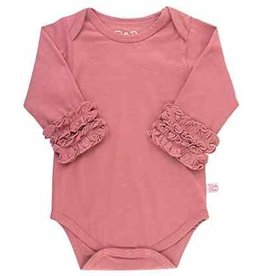 RuffleButts Ruffled Long Sleeve Layering Bodysuit