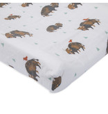 Little Unicorn Brushed Cotton Changing Pad Cover - Bison