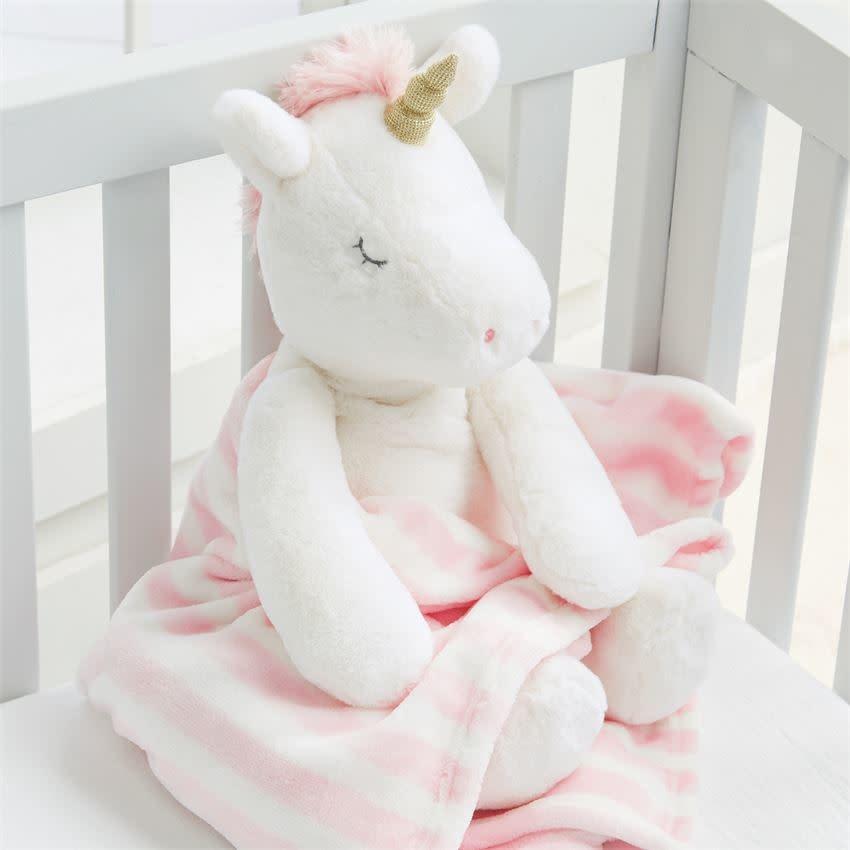 Mud Pie Plush Blanket Pal, Unicorn