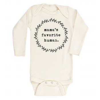 Tenth & Pine Mamas Favorite Human LS Bodysuit