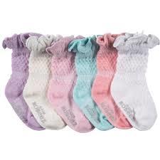 Robeez 6 Pk Socks, Sparkle Assorted Pastels 2-4y