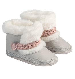 Robeez Soft Soles, Boot Montana Grey Pink