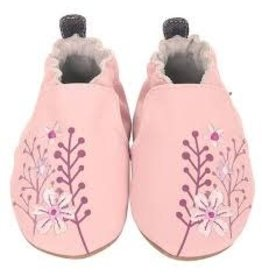 Robeez Soft Soles, Blooming Floral Light Pink 0-6m