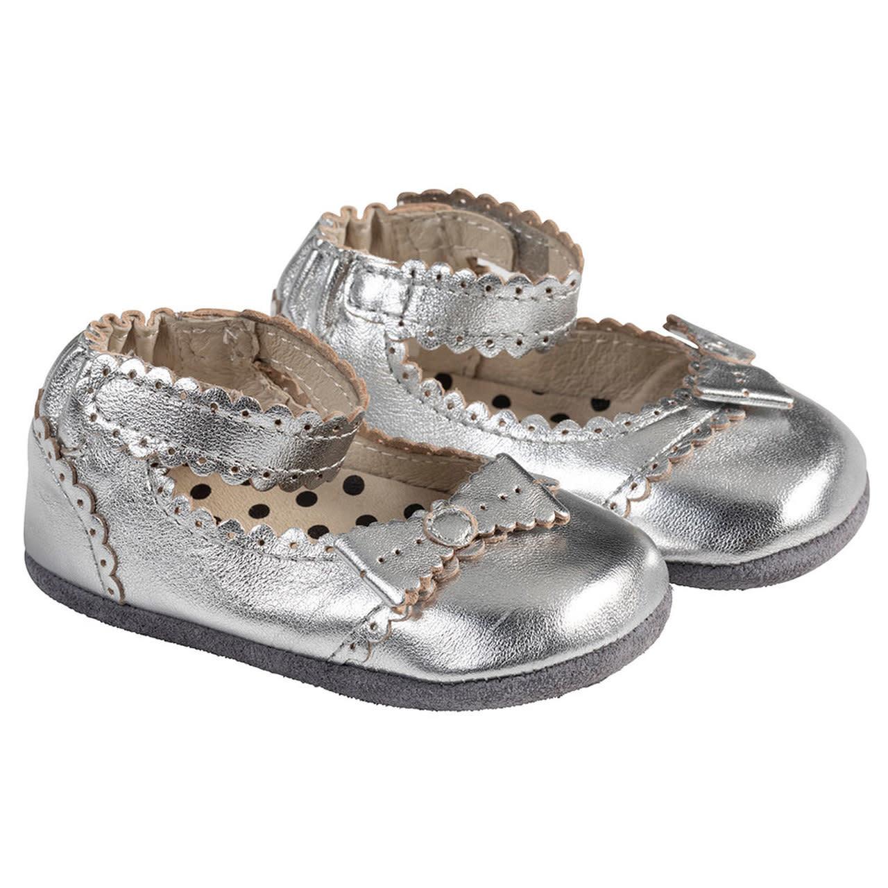 Robeez Mini Shoes, Catherine Silver