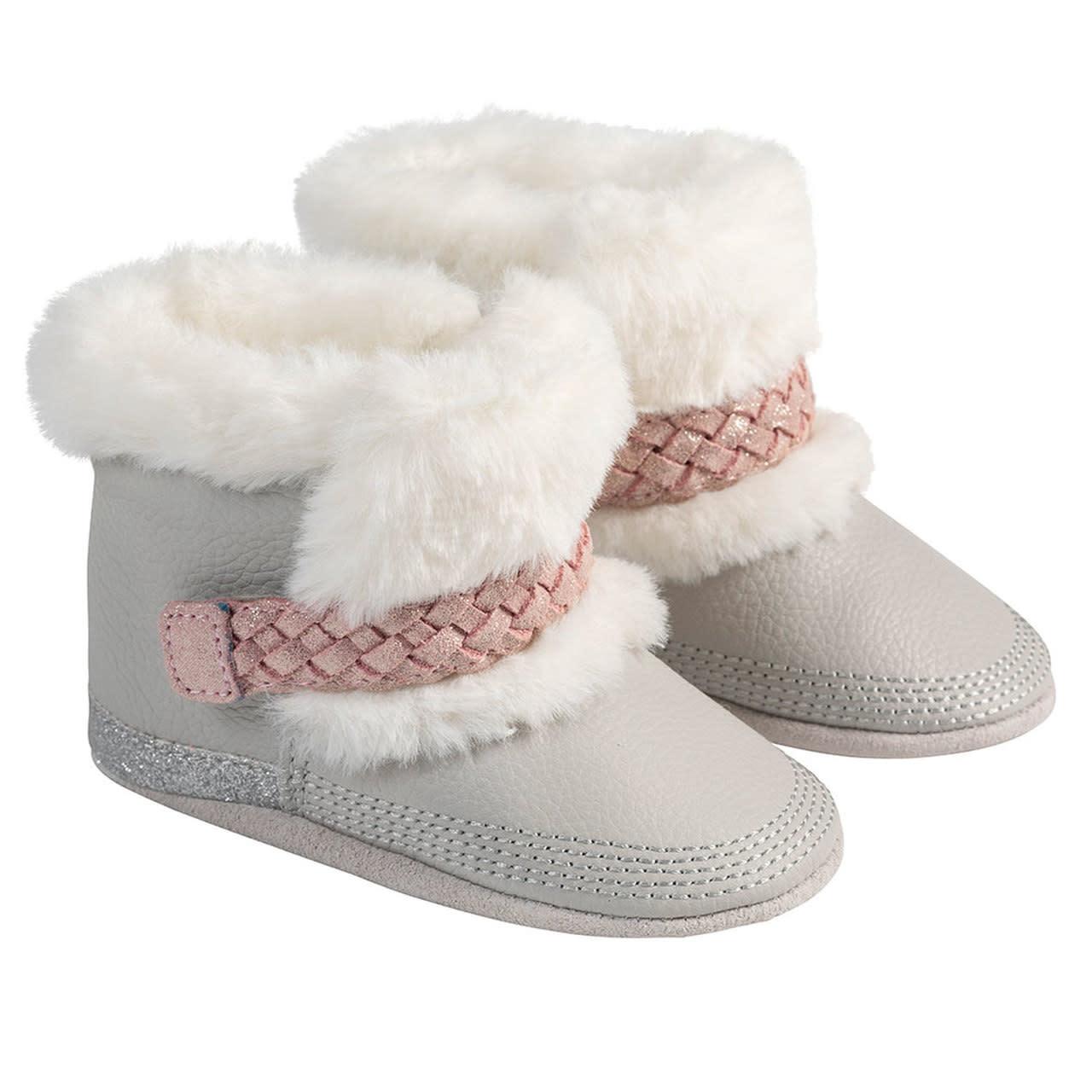 Robeez Montana Boot - Grey/Pink