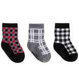 Robeez 3 Pk Socks, Buffalo Plaid