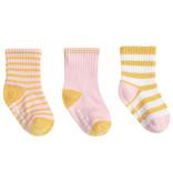 Robeez 3 Pk Socks, Daily Danielle - Pink