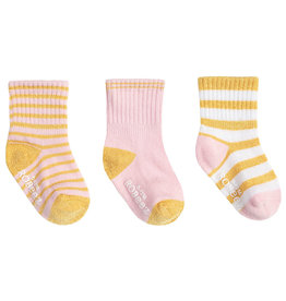 Robeez 3 Pk Socks, Daily Danielle - Pink