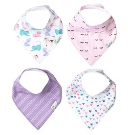 Copper Pearl Bibs - Sassy Set - 4 pack
