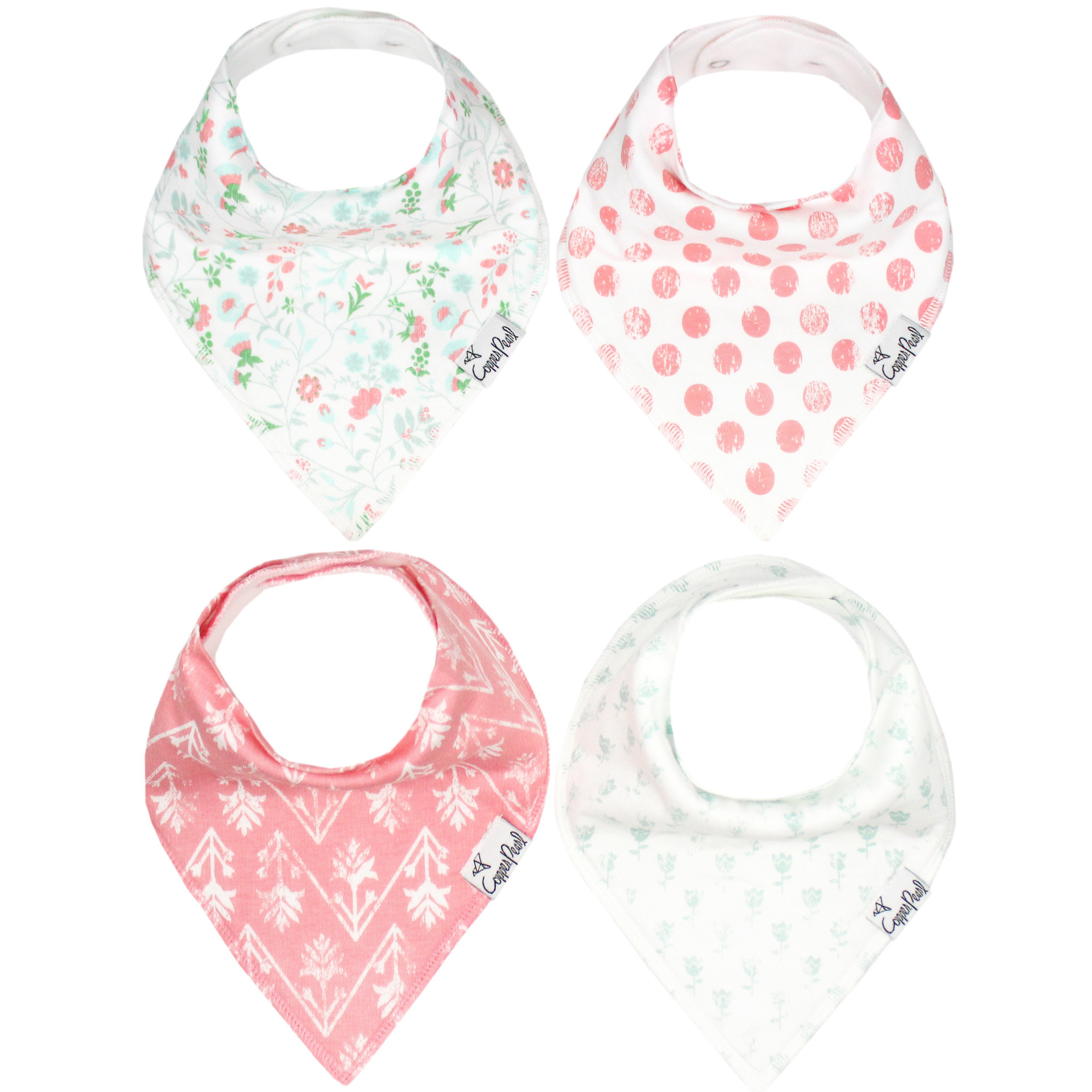 Copper Pearl Bibs - Claire Set - 4 pack